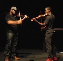 Kev Marcus and Wil B, aka Black Violin,